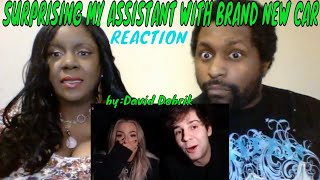David Dobrik - SURPRISING MY ASSISTANT WITH BRAND NEW CAR!!REACTION