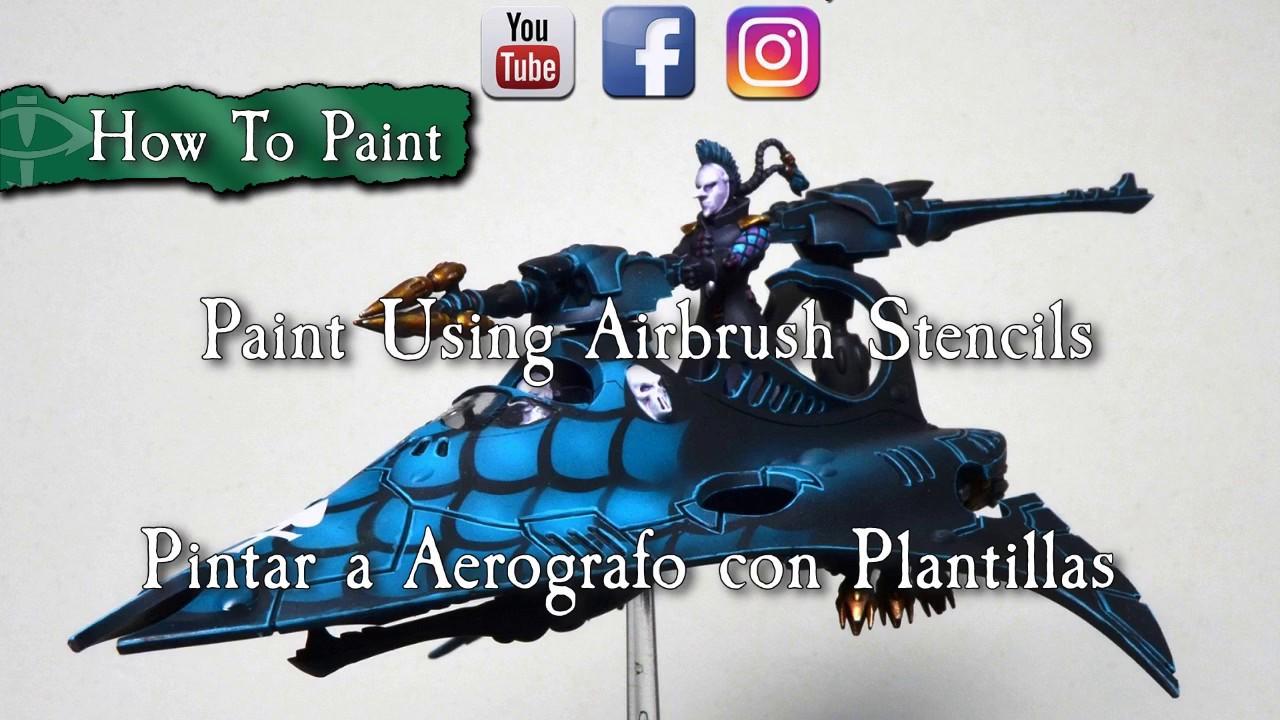 Tutorial: Pintar a Aerografo con Plantillas (Stencils) - YouTube