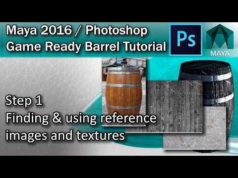 #1 Finding Textures and Referencing Images - Maya High Poly to Low Poly Tutorial
