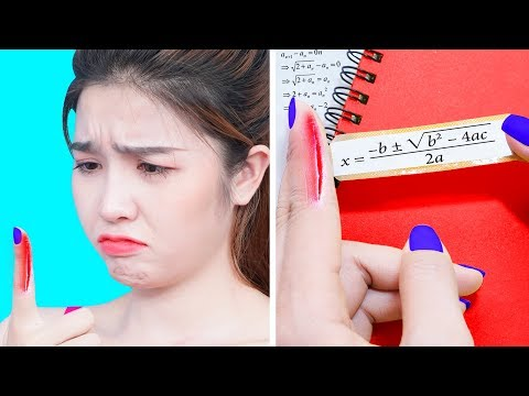 FUNNY DIY SCHOOL HACKS | Easy Crafts And Hacks For Back To School | School Supplies Ideas By T-Tips