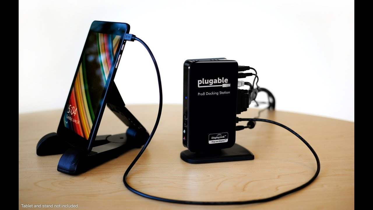 Plugable Pro8 Charging Amp Usb Dock For The Dell Venue 8 Pro