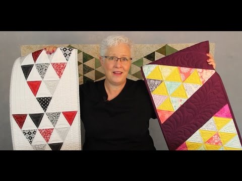 Playful Pyramids Tablerunner tutorial