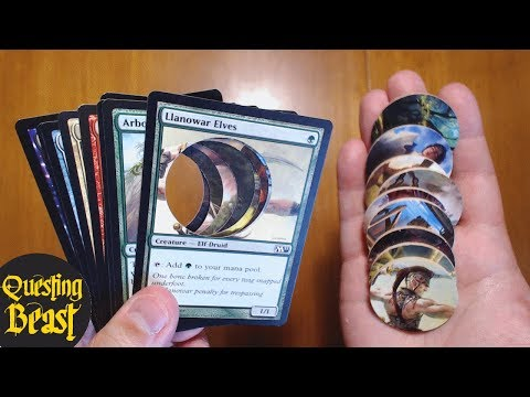 Making DnD Monster Tokens out of Magic Cards!