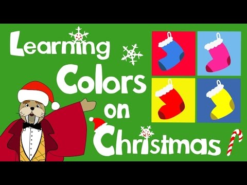Colors Christmas.Educational Christmas Video Learning Colors On Christmas The Singing Walrus