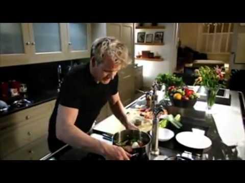 How to make fresh chicken stock   Gordon Ramsay   YouTube
