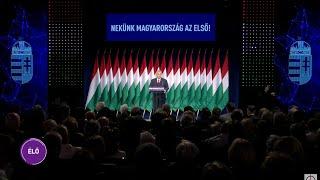 Orbán Viktor miniszterelnök évértékelő beszéde
