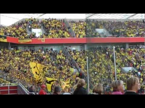 Bayer Leverkusen vs Borussia Dortmund Video Stimmung  Fans Leverkusen - BVB ドルトムント