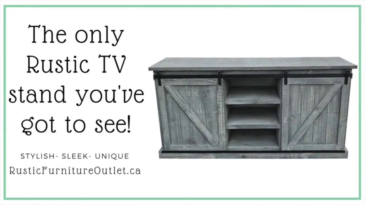72 Bella Rustic Pine Tv Stand With Barn Doors Furniture Outlet