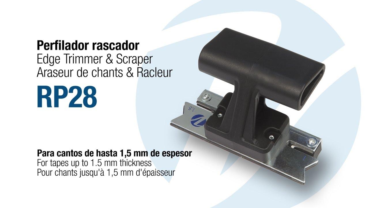 Rp28 rascador perfilador de cantos scraper edge trimmer racleur araseur de chants youtube - Araseur de chant ...