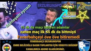 Fenerbahçe 3 - 1 Erzurumspor maç özeti/ maç sonu yorumları