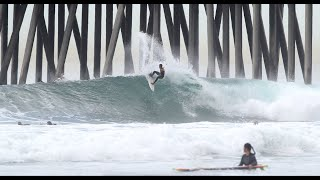 Surfing The Huntington Beach April Fools Swell