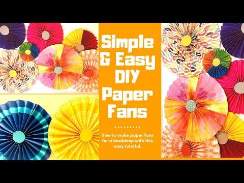 DIY PAPER FANS~EASY DECORATION IDEAS(Part-1)~ DIY Floral Craft