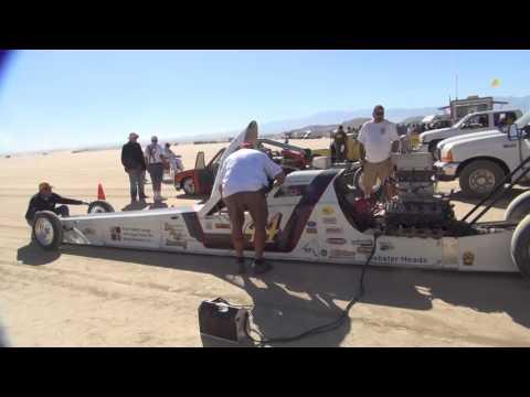 2016 nov #1 scta el mirage land speed racing dry lakes no fun, just watching harley tatro machine