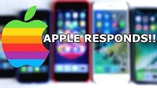APPLE RESPONDS TO SLOWING YOUR iPHONE!!