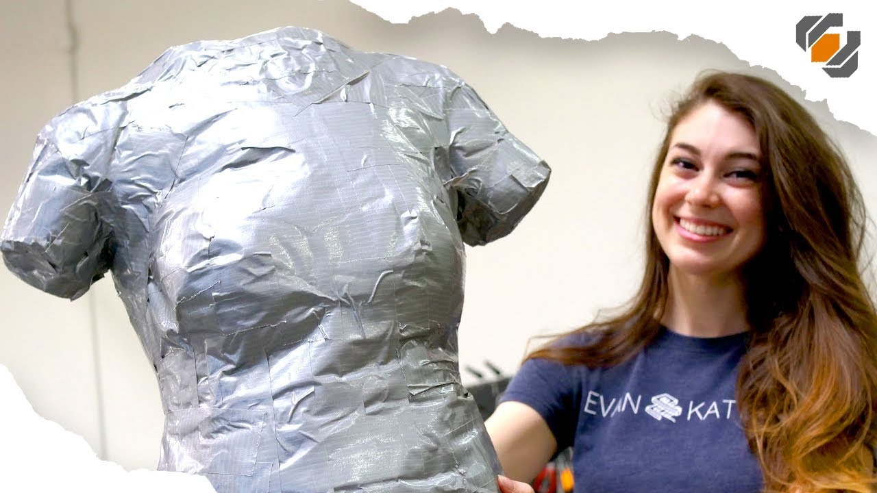 How to Make a DUCT TAPE DUMMY - Tutorial with Evan & Katelyn