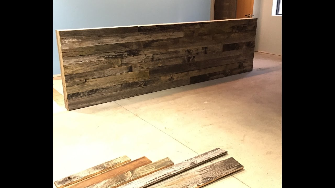 How To Build A Reclaimed Wood Wall Reception Desk Area