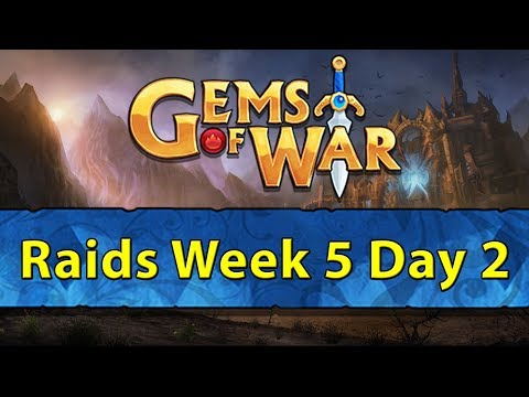 ⚔️ Gems of War Raids | Week 5 Day 2 | 1st New Pet Tomorrow! ⚔️