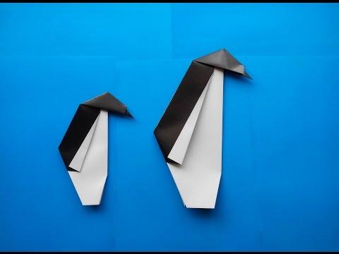 Как сделать пингвина оригами, How to make origami penguin