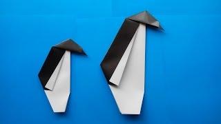 оригами из бумаги пингвин / origami penguin