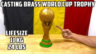 Casting Brass World Cup Soccer Ball Trophy !!