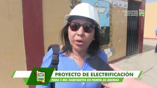 ENCAMINAN TRABAJOS DE CAMPO PARA HACER REALIDAD PROYECTO DE ELECTRIFICACIÓN DE PAMPA DE ÁNIMAS