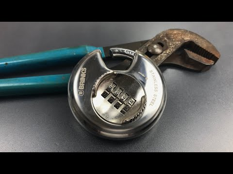 [679] Using Pliers to Open a Brinks Combination Disc Padlock (Model 663-80051)