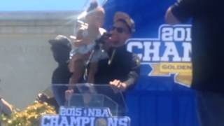 Stephen Curry, Riley Curry Speech At Warriors Parade Rally Oakland