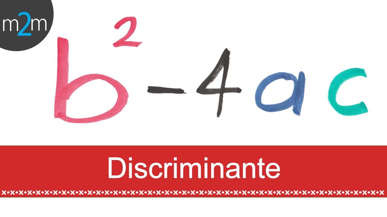 Discriminante de una ecuación cuadrática - YouTube