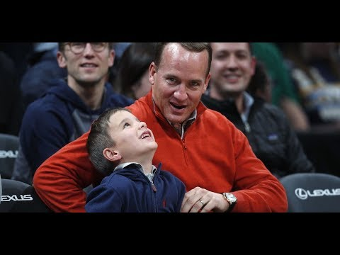 Peyton Mannings son stole the spotlight at Nuggets game