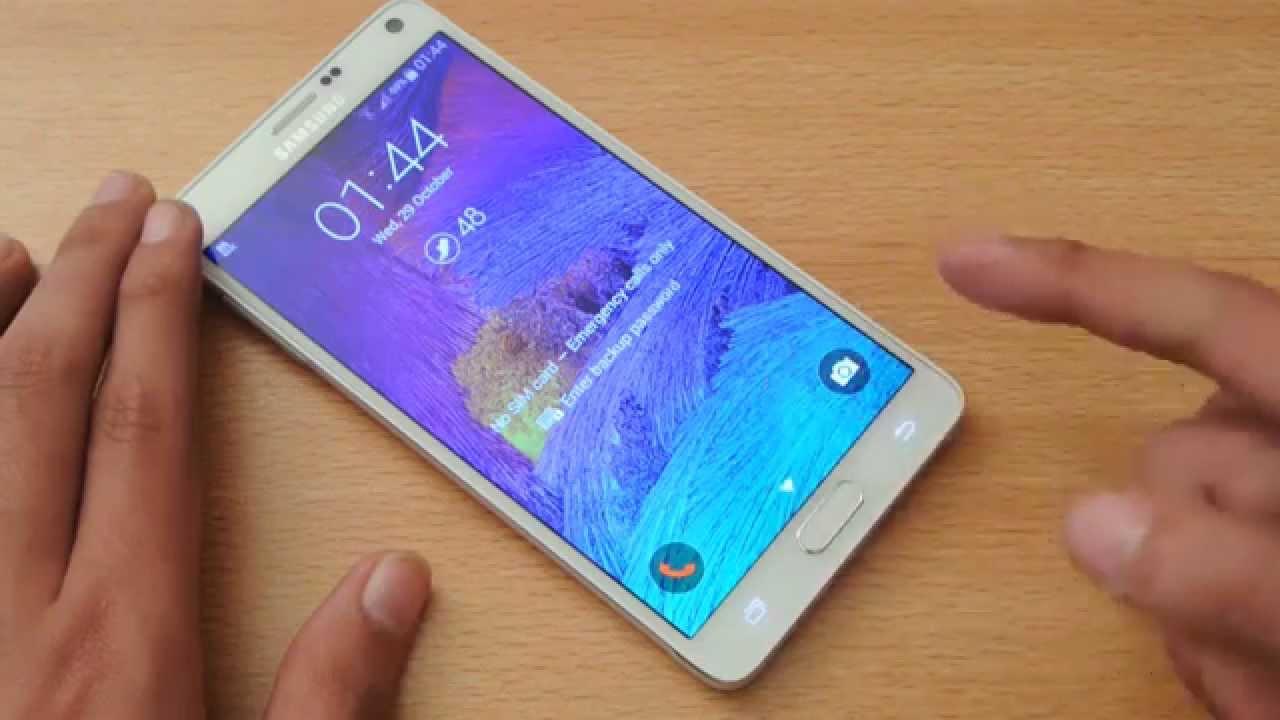Samsung Galaxy Note 4 Fingerprint Sensor Review HD - YouTube