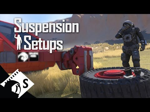 Space Engineers Testing: Suspension Setups (tips, testing and tutorials for survival)