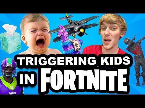TRIGGERING A KID IN FORTNITE!