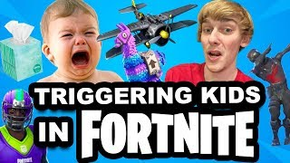 TRIGGERING A KID IN FORTNITE!