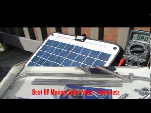 Boat Rv Marine Solar Panel Frameless Youtube