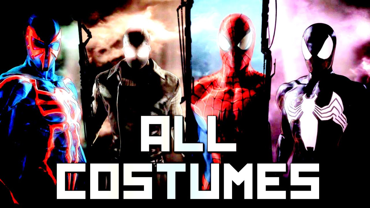 Spider-Man Shattered Dimensions - All Suits/Costumes - YouTube