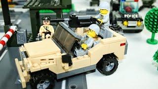 Конструктор машинки Военная машина и Полицейская машина - Игрушки для мальчиков