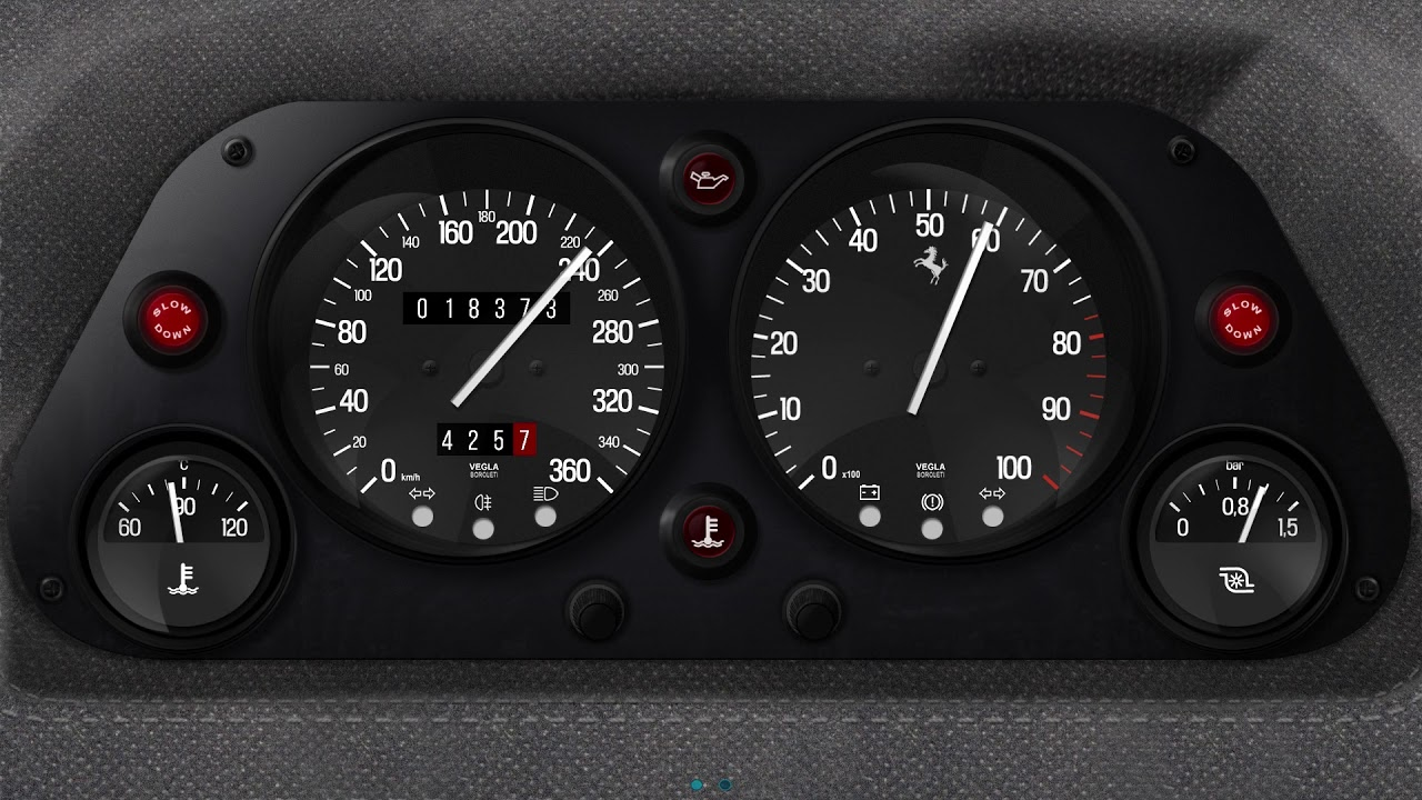 RealDash F40 premium dashboard