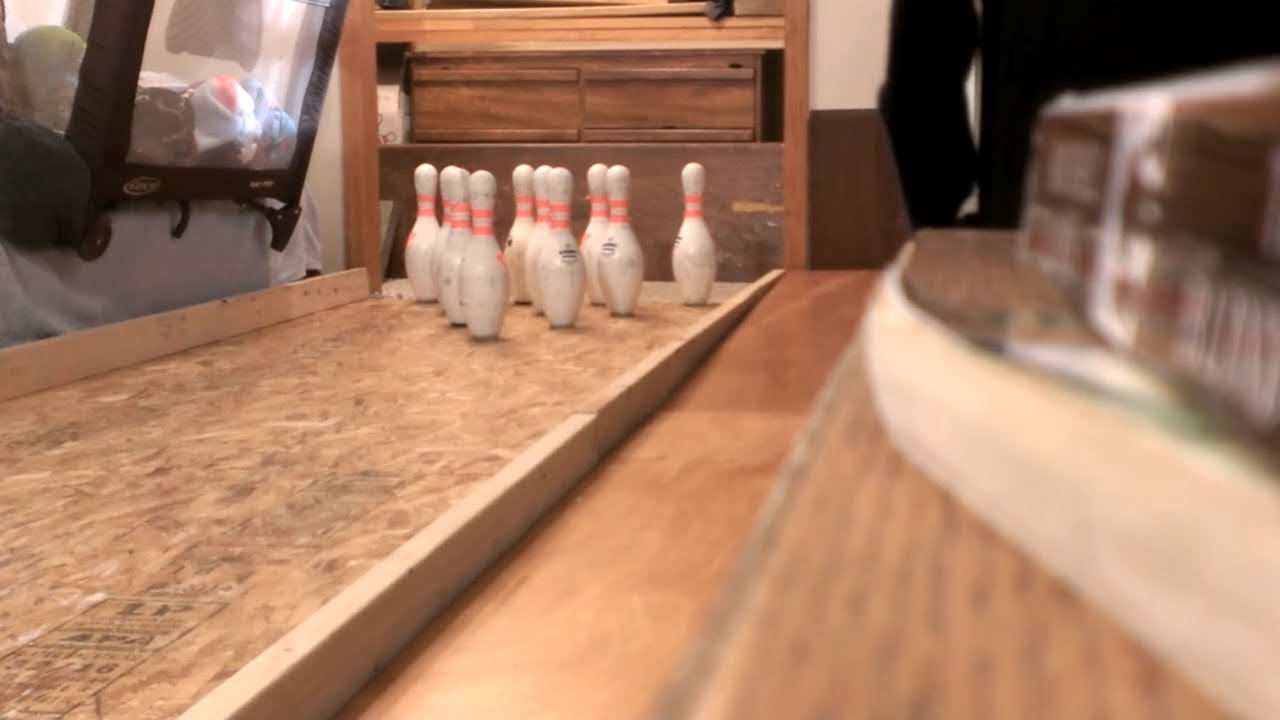 Homemade Bowling Alley - YouTube