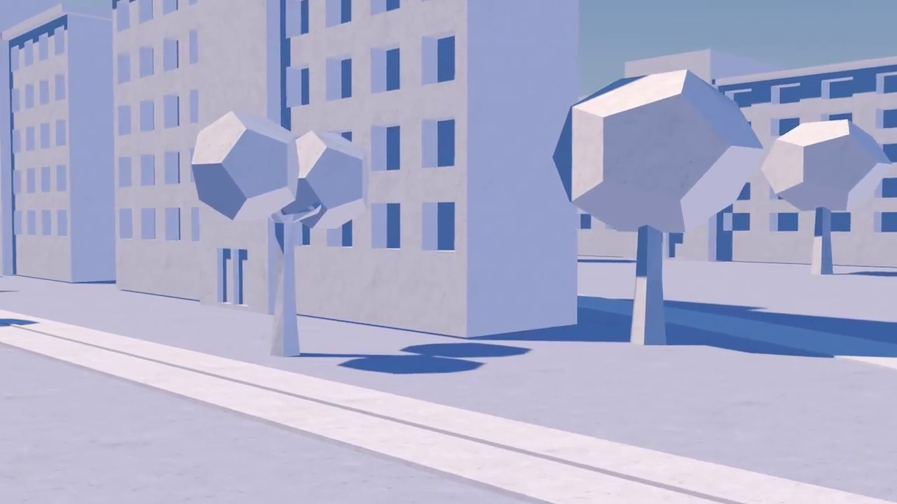 Low Poly Paper City animation 3D