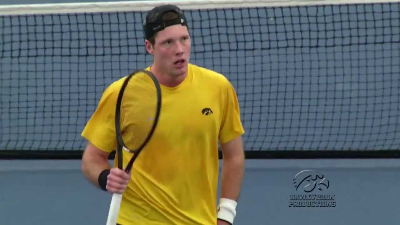 Iowa Men's Tennis Highlights vs. Minnesota - 2.16.14 - YouTube