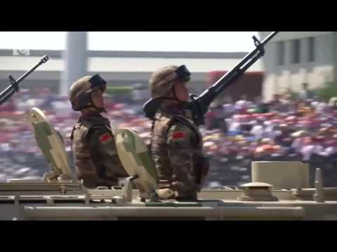 China's defence budget rise to slow again