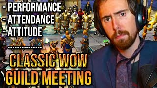Asmongold Classic Wow Guild Meeting All Requirements To Join