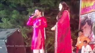 "Hothlaliya Chikhe Da Live | Nirahua Hindustani | Dinesh Lal Yadav ""Nirahua"", Aamrapali dubey"