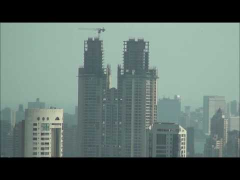 Great Panoramic View of Mumbai from 40th Floor (Haji Ali, Mahalaxmi Race Course etc)