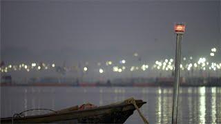 Banks of the river Ganga at the Prayagraj Kumbh Mela festival 2019