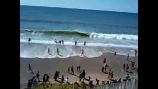 la mer très agiter