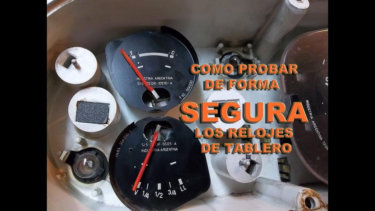 Testeo De Relojes De Tablero De Ford Falcon Nivel Nafta