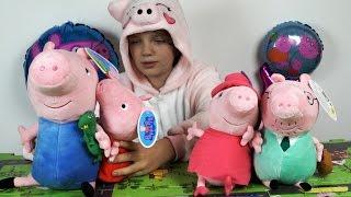 Игрушки Свинка Пеппа - Обзор Мягких Свинок, Набора Пеппа-Доктор и Пазл Коврика Город Пеппы