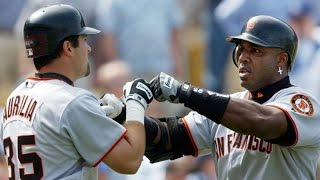 SF@LAD: Bonds gets two HRs, five RBIs on Opening Day