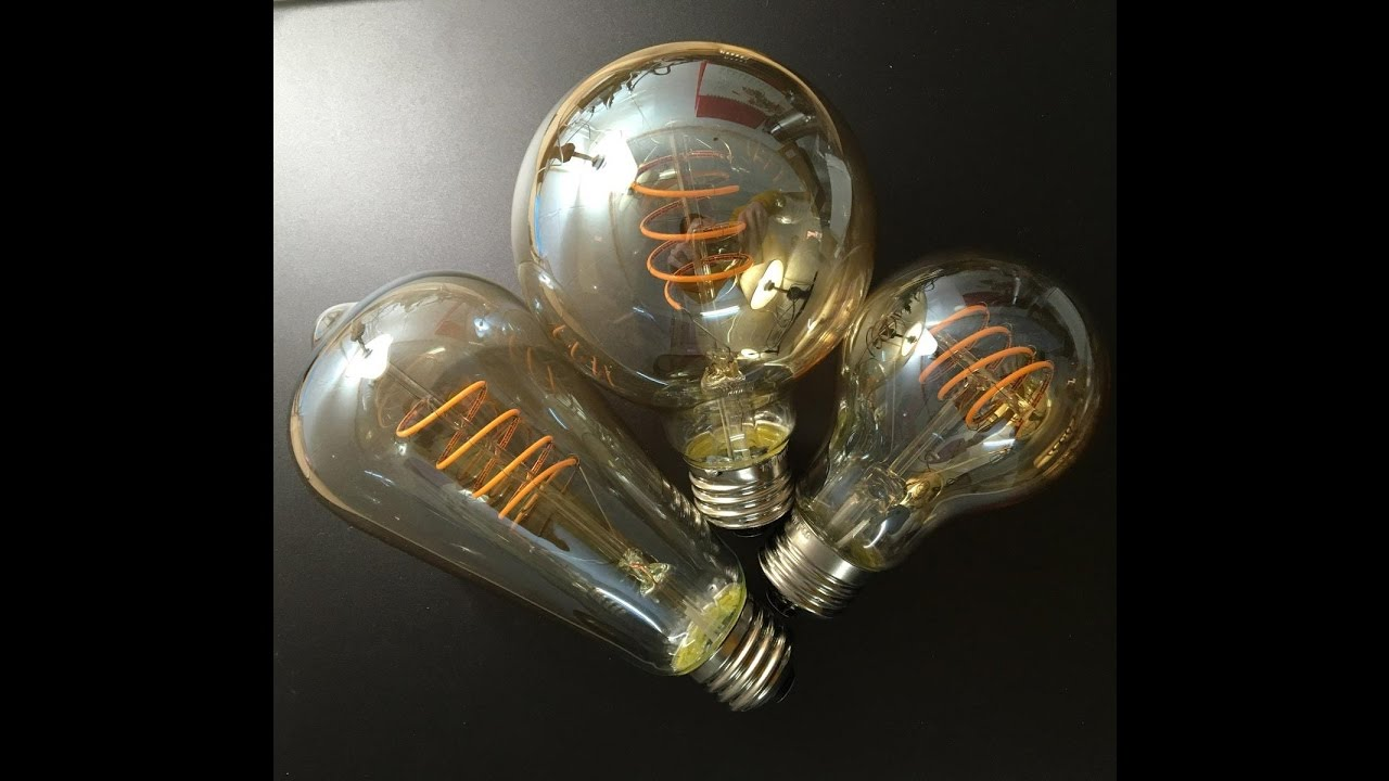 LED Flexible Filament Bulbs E26 ST64/ST21 A19 G80 Dimmable ...